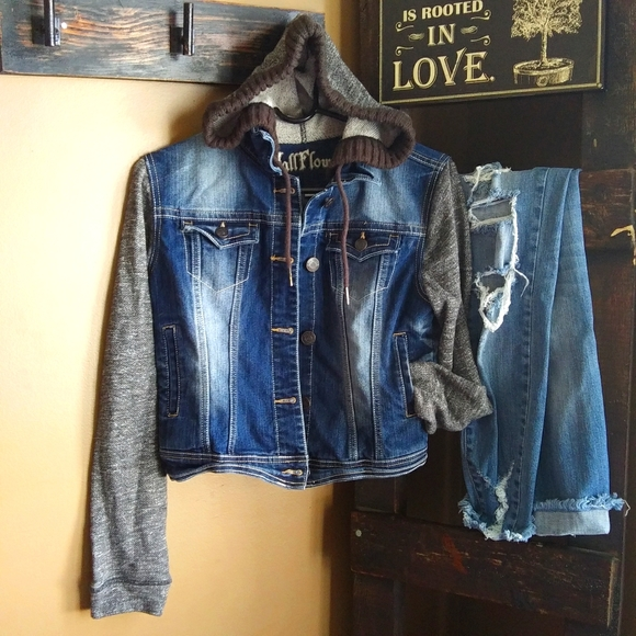 Wallflower Jean Crop Jacket